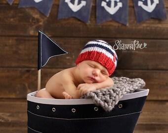 Ahoy - Perfect Fit Newborn Beanie