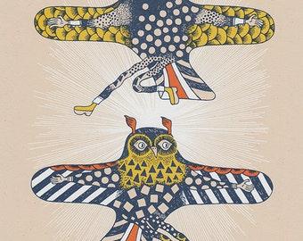 owl gliders silkscreen