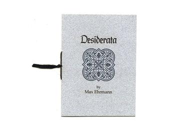 Desiderata, charming mini poem zine