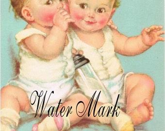 Charlotte Becker Babies Toddlers*Babies whispering * Quilt art fabric block*1-5x7*Pillows*Sachets*Door dazzler