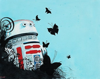 R5D4 Digital Print of Original Acrylic Painting LARGE Size 11 x 14  In Limited Quantity