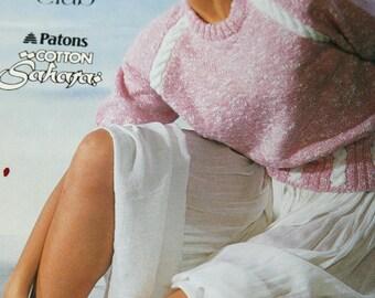 Knitting Patterns Sweaters Sunshine Knits Beehive Patons 639 Women Vintage Paper Original NOT a PDF