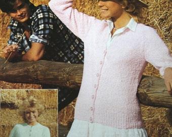 Knitting Pattern Cardigan Beehive Patons B 7120 Women Vintage Paper Original NOT a PDF