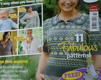 Knitting Patterns Simply Knitting Magazine October 2008 Sweaters Cardigans Paper Original NOT a PDF