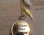 Compass Necklace Working Compass Necklace Follow Your Dreams Graduation Gift