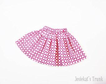 Pink Dot Skirt Twirl Modern Infant Toddler Fabric 0/6 6/12 12/18 18/24 2T 3T 4T