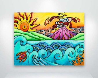 Volcano Sunrise Hawaiian Fine Art Giclée Print