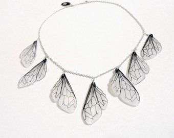 Honey bee wing bib necklace