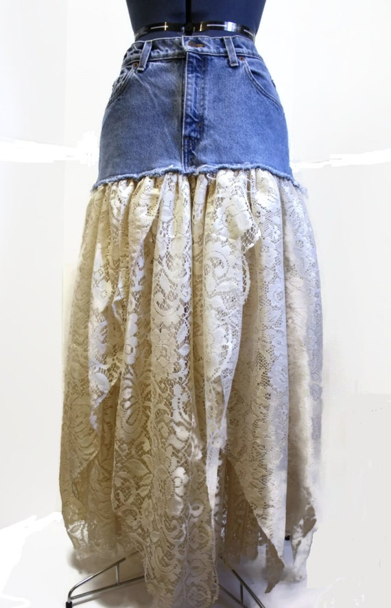 items similar to bohemian skirt festival clothing upcycled