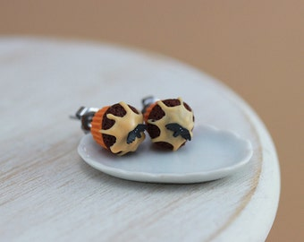 Halloween Cupcake - Studs / Post Earrings