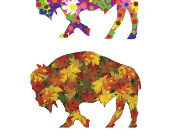 Buffalo Print -  Buffalo Art Work - Buffalo Four Seasons Version 1 - Four Seasons Art - Buffalo NY