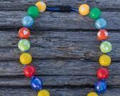 SIMPLE.beads Tropico bubble gum bead necklace