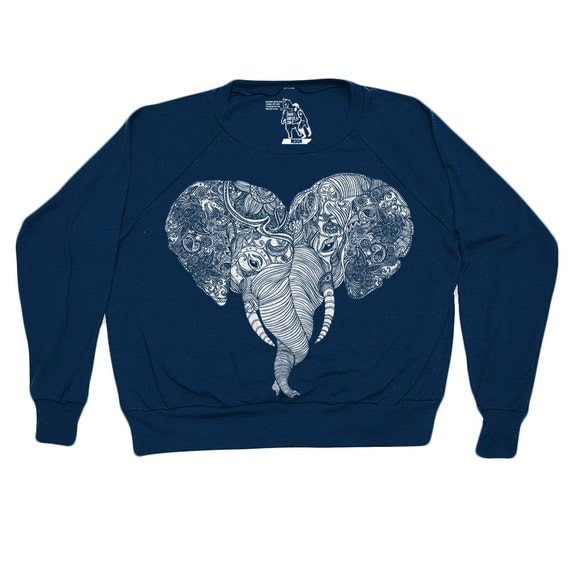 Punch Trunk Love Elephant Heart Pullover Sizes S L