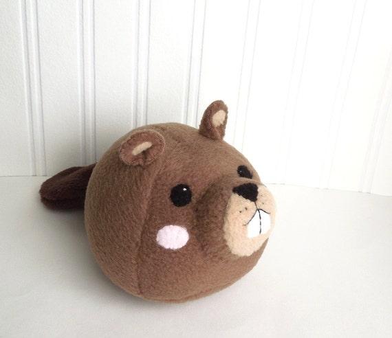 Kawaii Woodland Beaver Plush Toy Stuffed Animal