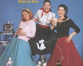 Uncut Simplicity 5403 Wrights poodle skirt costume pattern, Size HH (6-12)