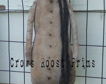 Snowman Man of Snow 139e Primitive Crows Roost Prims ePattern SALE immediate download