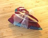 Primitive Folk Art Stacking Mini Hearts Pin Cushion