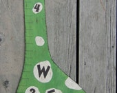 Wood Growth Chart DINOSAUR - Personalized Hand Painted Wood Keepsake