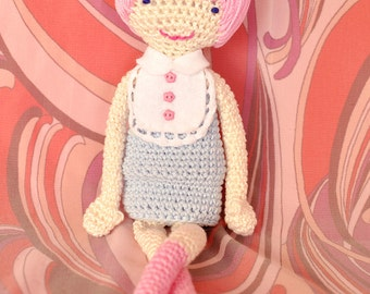 Rosa the Mod Girl, Amigurumi, CROCHET PATTERN