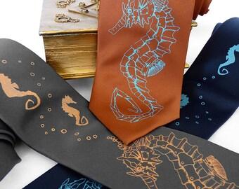 Seahorse Necktie, Robot Necktie - Seahorse Roboticus Tie