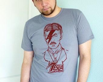 Tesla Stardust Men's Tshirt, Science Shirt, Nikola Tesla Shirt, Tech Gift, Science Teacher Gift