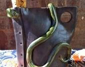 Snake Pottery Jug
