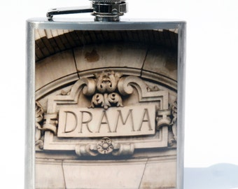 FLASK - Hip Flask - Whisky Flask - Drama Flask - 6oz