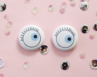 Eye See You One Inch Button Set of Two