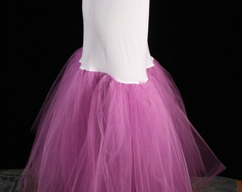 Fishtail petticoat radiant orchid wedding underskirt trumpet slip puff bride bridal formal dance - You choose size -- Sisters of the Moon