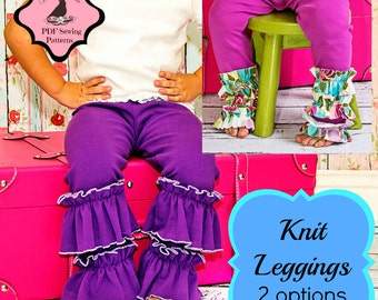 Knit Leggings Pattern -- 6m - 10 years Instant