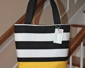Boutique Tote - Black and Gold