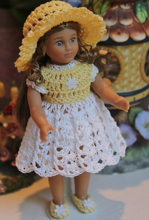 Crochet Mini Doll Clothes : Crochet outfit for AG Mini 6 inch doll by dollcrochetboutique