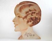 Large Vintage Litho Rexall Beauty Advertisement Display Cardboard Goodform Sport Wave Net