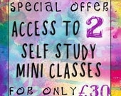 SPECIAL OFFER - Buy Access to 2 Self Study Mini Classes at a Reduced Price