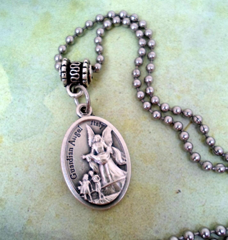 guardian necklace archangel michael holy by marysprayers