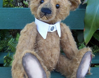 PDF Teddy bear pattern , Sebastian 15 inches fully jointed traditional mohair teddybear with shirt collar