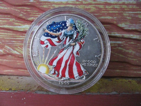Silver 1999 Silver Dollar Coin Money Walking Lady Liberty