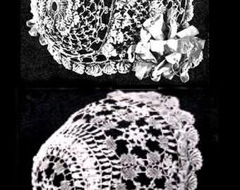 Vintage Bonnet Patterns, Antique Anne Orr Irish Cluny Crochet PDF InStAnT DoWnLoAd