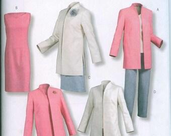 Butterick 4401 Sheath Dress Lifestyle Wardrobe Blazer Sewing Pattern Sizes 8-10-12-14 Easy to Sew