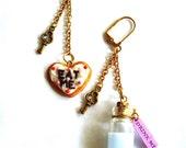 Alice in Wonderland Earrings Drink Me Earrings Eat Me Earrings Wonderland Jewelry Fairytale Jewelry Asymmetrical Earrings