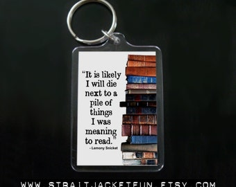 Book Lover keychain - Great gift for avid readers, bookworms, librarians, book collectors