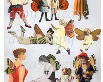 Beautiful Fairies Digital Collage Sheet