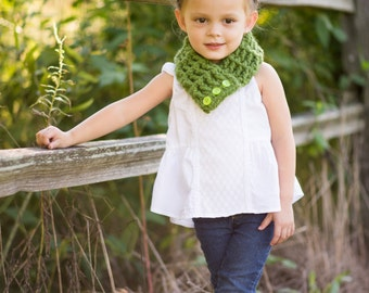 3 Sizes Green Scarflette Toddler Scarf Toddler Girl Scarf Toddler Boy Scarf Toddler Scarflette Womens Scarflette Womens Scarf Green Grass