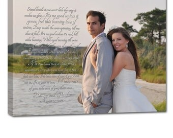 Wedding Photo art Personalized Unique gift for Him or Her  24X36 inch