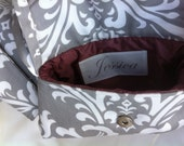 Custom Name Label for Bridesmaid and Bridal Clutch