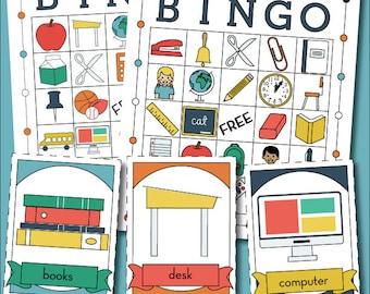 Back to School Printable Bingo Game