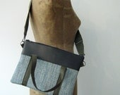 "13"" Laptop Bag, Note Book Bag, Macbook Bag, Laptop Sleeve, Crossbody Purse made from repurposed materials"