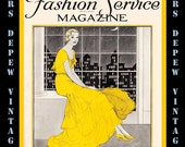 Vintage Sewing Magazine September 1931 Fashion Service Dressmaking Sewing and Fashion Ebook -INSTANT DOWNLOAD-