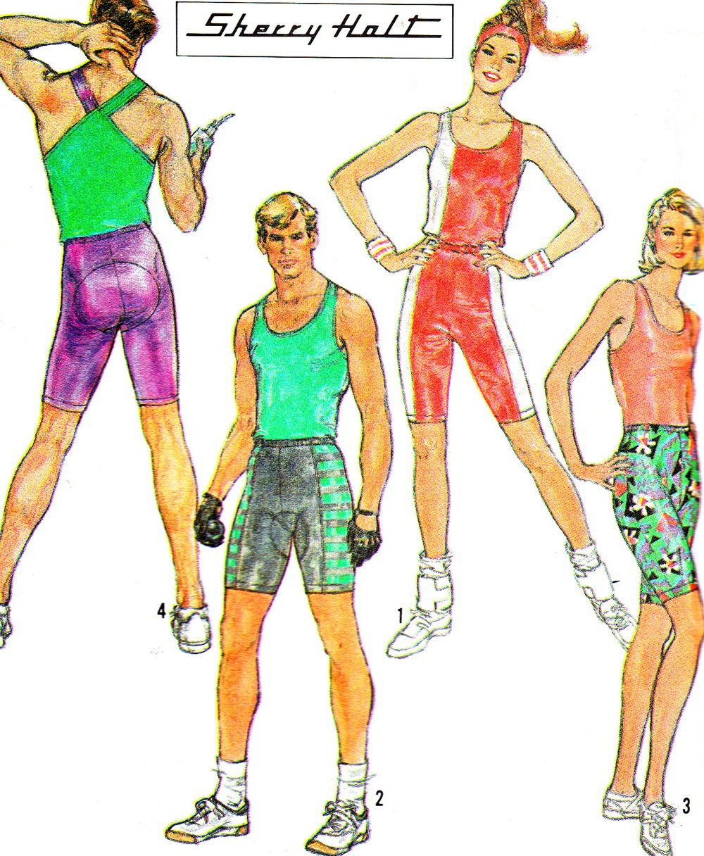 unisex workout clothes vintage sewing pattern by