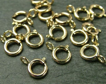 Gold Filled Spring Ring Clasp 5mm (CG1390)